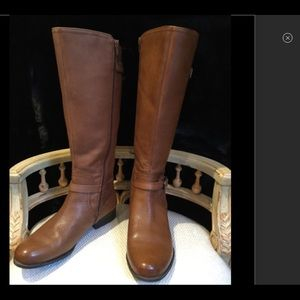 WIDE SIZE 10 BROWN LEATHER BOOTS